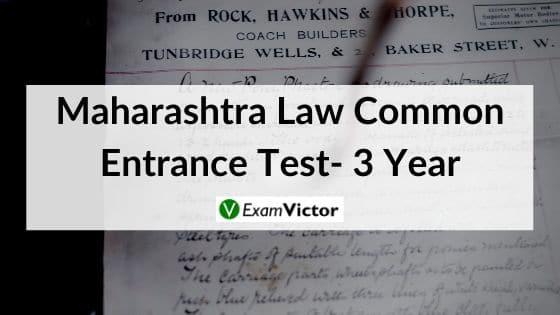 Maharashtra Law Common Entrance Test- 3 Year