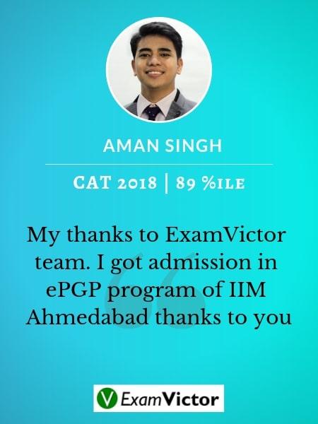 Aman Singh ExamVictor CAT Topper
