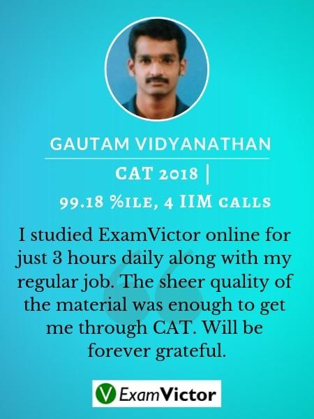 Gautam ExamVictor CAT Student